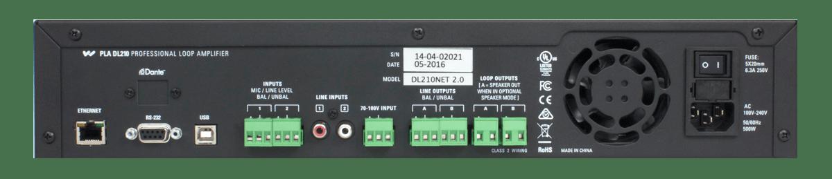 DL210 Pro Loop Amplifier rear view