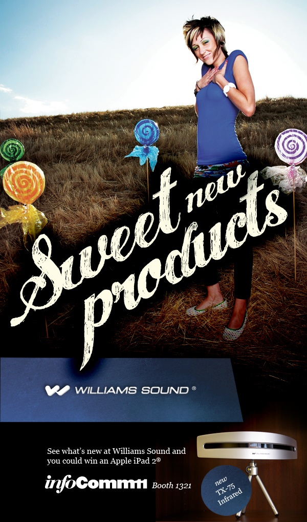 Williams Sound introduces Sweet New Technology at InfoComm11